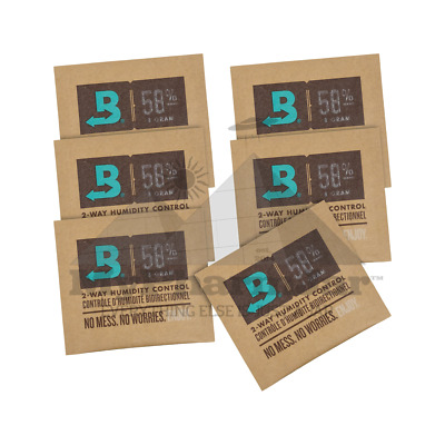 Boveda RH 58% 2 Way Humidity Control Medium 8g Gram - 6 pack