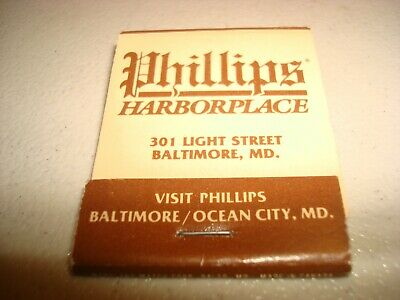 Rare Vintage Matches Phillips Harborplace Baltimore Ocean City MD USA Original!