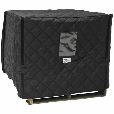"""RefrigiWear Black Fabric Insulated Pallet Cover - 48""""L x 40""""W  x 48 """"H"""