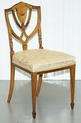 Stunning Rosewood Sheraton Revival Style Occasional Chair Part Lovely Suite