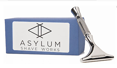 Asylum Shave Works Rx Single Edge Razor Polished - NIB - Rare - Sold Out