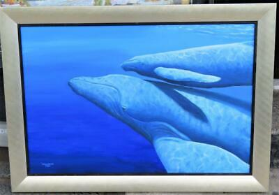 Reduced Special!!! $35000 Rare Original Robert Wyland Gorgeous Whale Painting!!