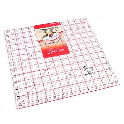 "SEW EASY 12.5"" x 12.5"" SQUARE TEMPLATE RULER - PATCHWORK QUILTING -12½ square"