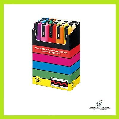 Uni-posca Paint Marker Pen, Medium Point, Set of 15 (PC-5M15C)