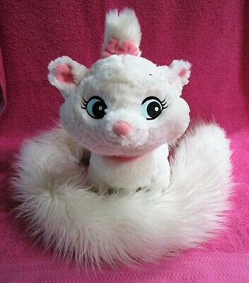Disney Parks The Aristocats Marie Boa Scarf Long Tail White Kitten Cat Plush