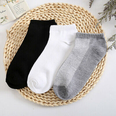 1/5/10 Pairs Men Invisible Low Cut No-Show Footlet Socks Polyester Rich No-Slip