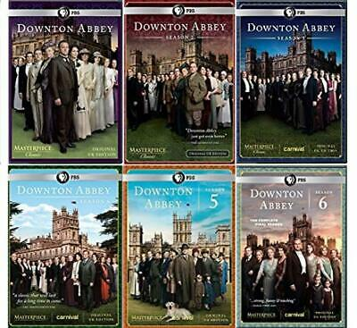 Downtown Abbey Seasons 1-6 Complete DVD TV Series Collection Brand New Sealed