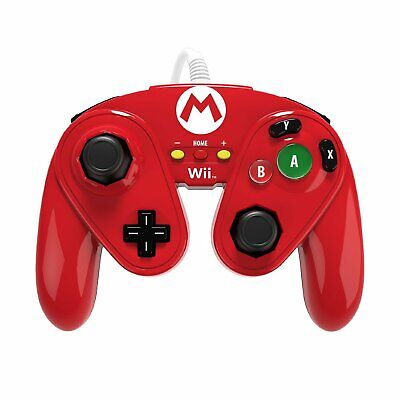 Official MARIO Wired Fight Pad Classic Controller for Wii U (PDP) Gamepad