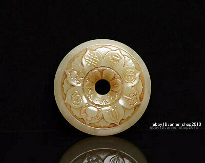 6.2cm China natural Old HeTian Jade Hand-carved auspicious Pendant Amulet AJJO