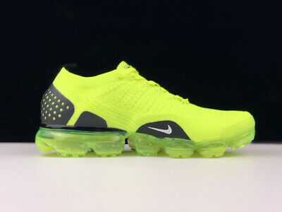 NIKE AIR VaporMax Flyknit 2 2018 MEN Running Trainers Shoes Chartreuse/Grey