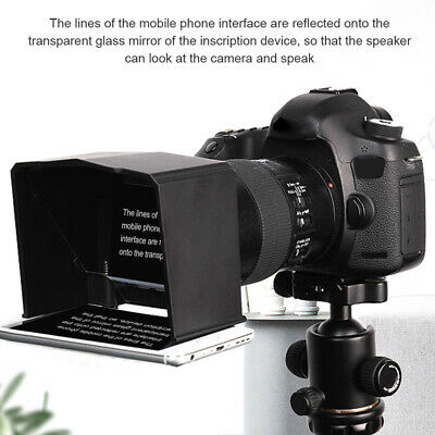 ABS Interview Phone Use Portable Teleprompter Set With Adapter Ring DSLR Camera