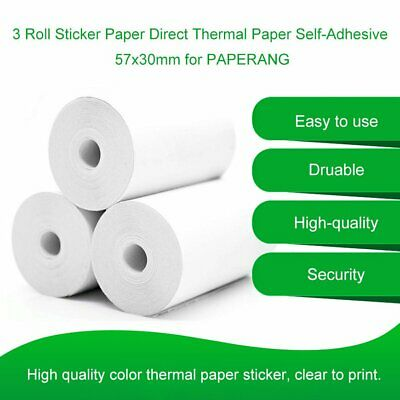 5 Roll Sticker Paper Direct Thermal Paper  57x30mm for PAPERANG RY