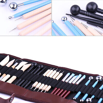 24PCS Carving Set Sculpting Pottery Clay Sculpture Polymer Modelling Tools AU