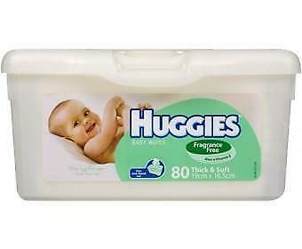 Huggies Baby Wipes Unscented Tub 80