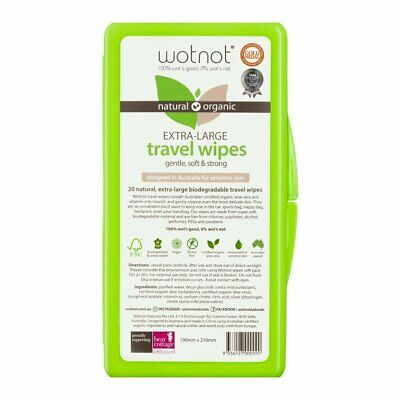 Wotnot Baby Wipes Travel CASE 20 Pack