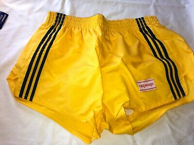 Vtg Retro NOS Castaways Mens Swim Trunks Short Springfoot Swim Suit Yellow Blue