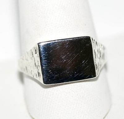 Mens Vintage Sterling Silver 925 Signet Ring by MMD England Sz 10.25