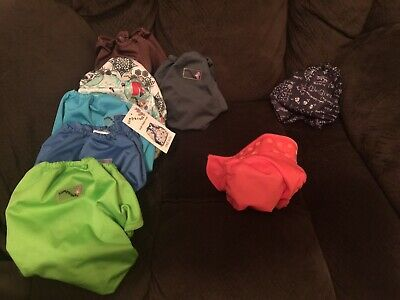 Lot of 9 Cloth Diaper Covers Rumparooz, Capri, Bumgenius Holiday Neutral/ Boy