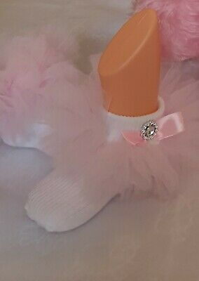 6 Months Baby Girls Frilly Lace Tutu Socks with detailed bow and bling
