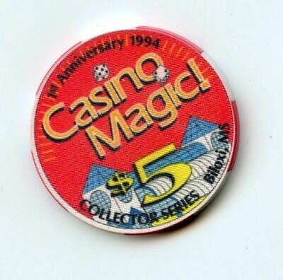 5.00 Chip from the Casino Magic Biloxi Mississippi 1st Anv
