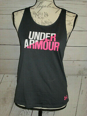 Under Armour Girls' Youth Large YLG Racer Back Tank Top Fitted Heatgear