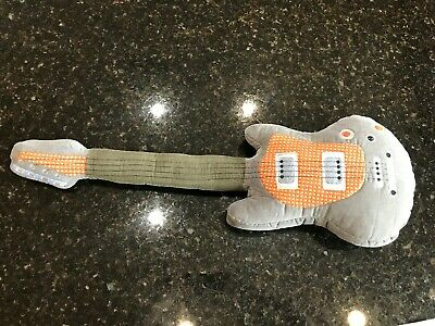 "28"" Pottery Barn Kids Guitar Plush Pillow Kids Pbk Hero Electric Style"