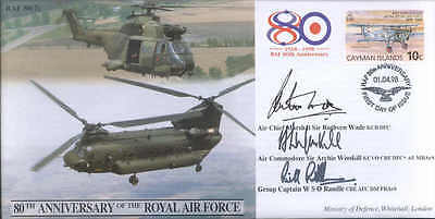 CC47h JSCC RAF 80th Ann FDC Battle of Britain DFC ace WINSKILL signed cover