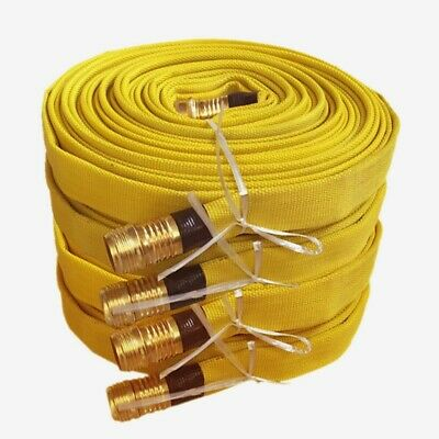 Pack of 4 FIRE HOSE, 3/4IN.X 25 FT., YELLOW, 250 PSI