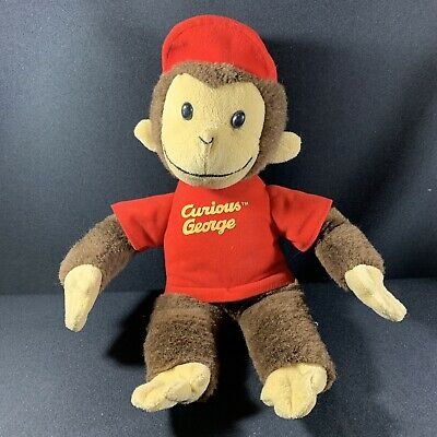 Curious George Plush Red Cap T Shirt 18 inch Monkey Animated Character