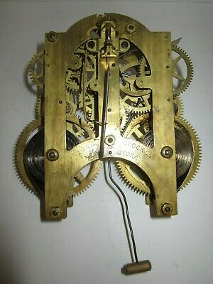 Antique Ansonia Mantel Clock Movement 8-Day, Time/Strike, Key-wind