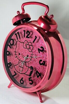 Vintage 2014 HELLO KITTY by Sanrio Pink Alarm Clock for Girls Collectible