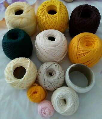 12 Mixed Rolls Of Crochet Cotton