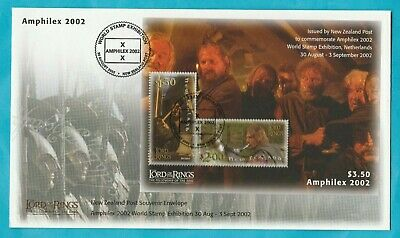 New Zealand Amphilex Lord of the Rings Mini Sheet Souvenir Cover 2002