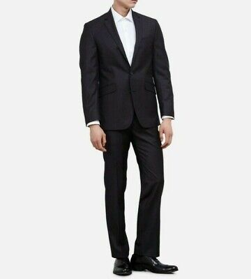 Kenneth Cole Reaction Men's Gray Slim Fit Collection 38S Suit Charcoal Brand new