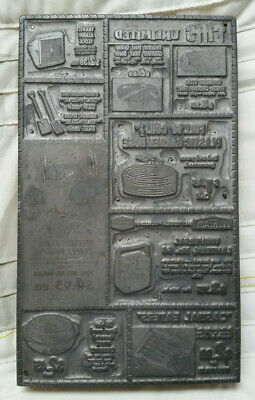 Intact Vintage Printing Press Plate Gifts Unlimited Magazine Advertisement 1950s