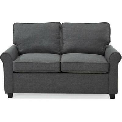 Gray Loveseat Sofa Sleeper Memory Foam Mattress Grey Sofa