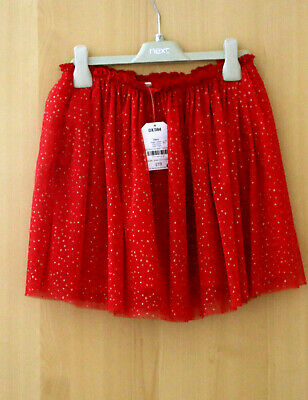 Next Girls Red Sequin Skirt Age 12 Years BNWT Tag £19
