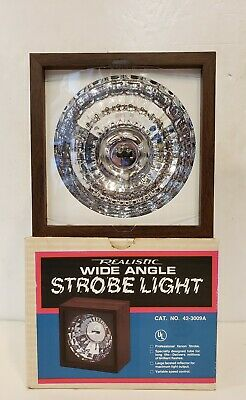 Vintage Realistic Wide Angle Xenon Strobe Light In Original Box