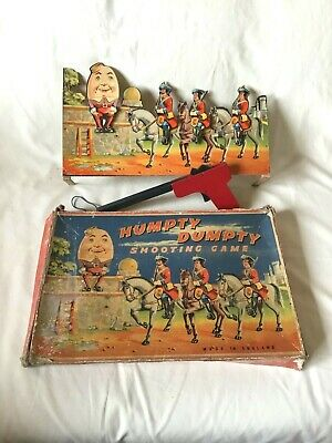 Antik Spiel , Humpty Dumpty , Schießspiel , Shooting Game , Made in England