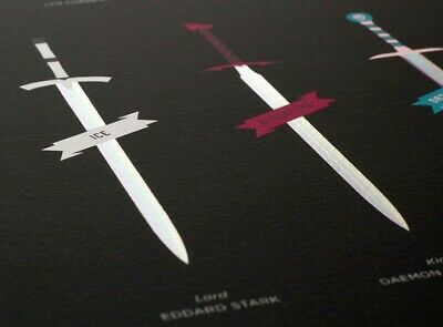 """Game of Thrones """"Valyrian Steel Swords"""" Art Print (Signed Rare Limited Edition)"""
