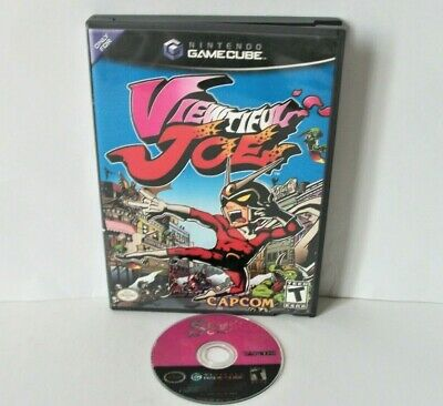 Viewtiful Joe 1 (Nintendo GameCube) Black Label Good Disc Game & Case Capcom
