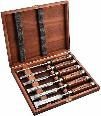 EZARC Japanese Nomi Chisel 6 Set With Box Woodworking carpenter Tool NEW