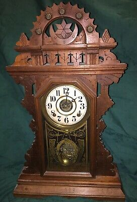 Antique Clean Good Luck Shelf Parlor Mantle Clock Working