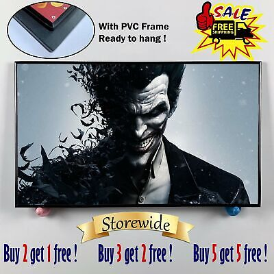 "12""x20""DC Batman Joker Paintings HD Canvas print PVC Frame Home Decor Wall art"