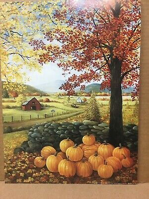 """Country`Primitive Fall Mixed Piperry Garland`w// Pumpkins and Candy Corn ` ` 54/"""""""