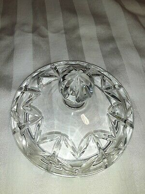 "Crystal lid only. Measures 4-1/2 overall and 3-1/4"" inside rim."