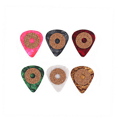 6Pcs 0.9mm Thin Celluloid Guitar Picks Plectrums For Electric Acoustic and Bass