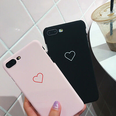 Hot Ultra Thin Fashion Love Heart Painted Phone Case For iPhone 6 6S 7 X  8 Plus
