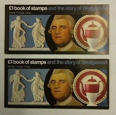 Gb 1972 The Story Of Wedgwood £1 Stitched Prestige Booklet Sg Dx1