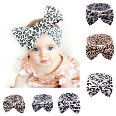 Kid Girl Baby Headband Toddler Cotton Bow Flower Hair Band Accessories Headwear